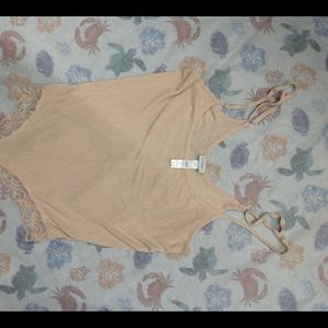 WOMENS BEIGE LA PERLA BODY SUIT TANK TOP